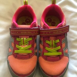 Girls Stride Rite tennis shoes size 12w